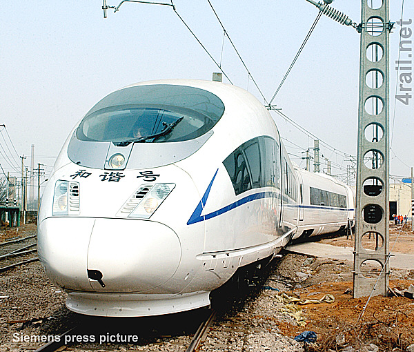 CRH3 high speed EMU in China